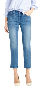 J.Crew Vintage Crop 32 Straight Leg Jeans-Medium Wash