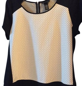 Lane Bryant Top black and cream