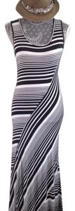 Black and white striped Maxi Dress by Bobeau