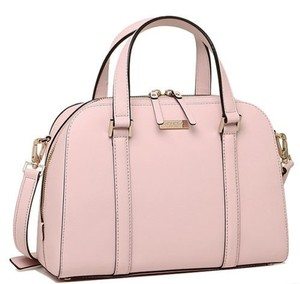 Kate Spade Brand New Double Handles Double Zipper Long Strap Satchel in Pink