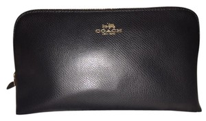 Coach Coach Large black leather cosmetic bag