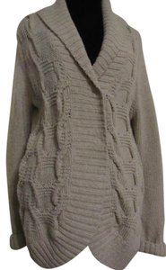 Tommy Hilfiger Warm Cardigan Lambswool Beige Sweater