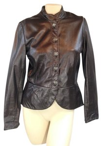 Margaret Godfrey browm Leather Jacket