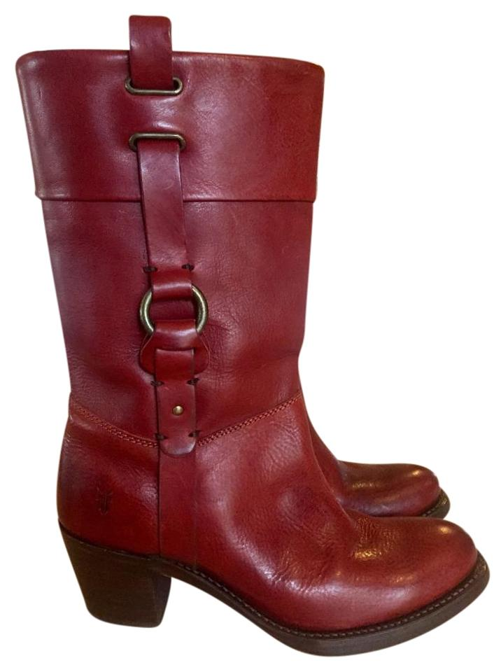 lady Frye Red Very Jane Harness Boots/Booties Very Red good quality 8c4b86