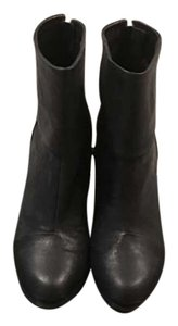 Rag & Bone Ankle Leather Classic Chunky Heel Black Boots
