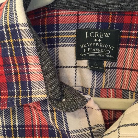 J.Crew Red Oversized Plaid Flannel Button Down Shirt - 57% Off Retail free shipping