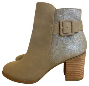 Seychelles Suede Leather Sparkle Gray Boots