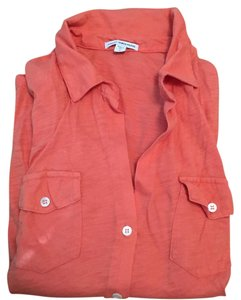 James Perse Button Down Shirt Orange