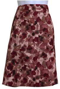 Ann Taylor Skirt Red Multi-Color