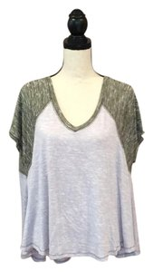 Free People T Shirt Two Toned Purple /Green