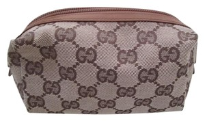 Gucci Makeup Change Small Makeup Makeup Case Brown/Tan monogram Travel Bag