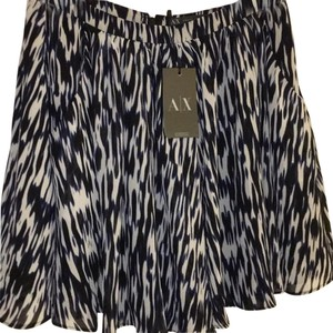 A|X Armani Exchange Mini Skirt Blue and White