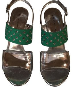 Marc Jacobs Silver/green Sandals