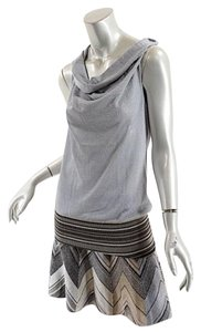 M Missoni short dress Silver Multi Color on Tradesy