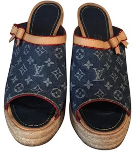 Louis Vuitton LV denim Wedges