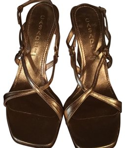 Casadei Gold Wedges