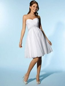 Alfred Angelo White/Silver Taffeta 2077 Formal Wedding Dress Size 10 (M)