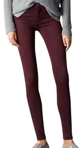 American Eagle Outfitters Maroon High Waisted Jeggings