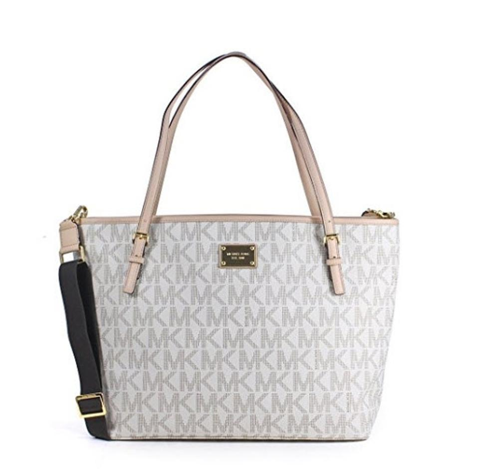 michael kors diaper bag white