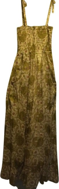 Preload https://item3.tradesy.com/images/yellow-floral-long-casual-maxi-dress-size-8-m-1984102-0-0.jpg?width=400&height=650