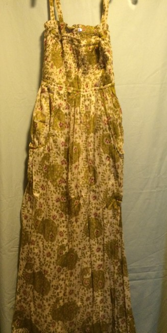 Yellow Floral Maxi Dress by Unknown