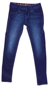 Rock Revival New Skinny Skinny Jeans-Dark Rinse