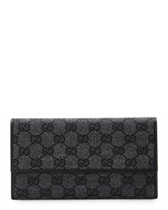 Gucci Signature Logo Flap Wallet