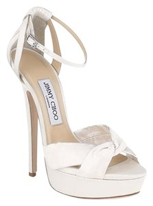 Jimmy Choo Platform Sandal Satin Wedding Ivory Formal