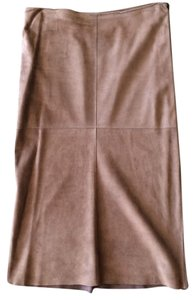 Joseph Fall Suede Winter Full Length Patchwork Maxi Skirt Brown