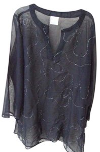 Atmosphere Beach Wear NEW Black Embellished Cover Up Tunic Pool Beach Size 12