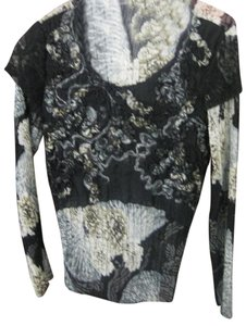 Alberto Makali Top Black&Cream