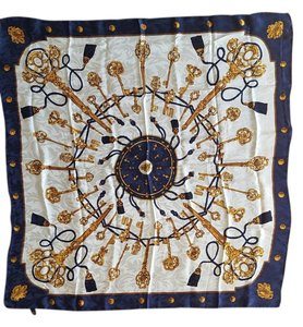 100% silk hermes-style nautical scarf
