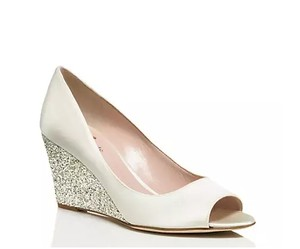 Kate Spade Wedge Glitter Wedding Peep-toe Wedding Shoes