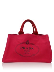Prada Canapa Tote in Red