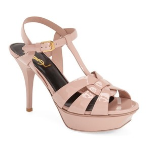 Saint Laurent Pale Pink Patent Platforms