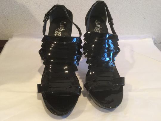Cole Haan Lining $13 OFF Black patent leather NikeAir soles stack wood heels Platforms