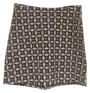 Anthropologie Skirt Brown, Blue, White