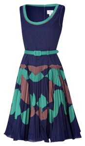 MILLY short dress Navy, green, brown on Tradesy