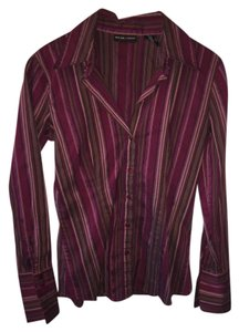 Express Button Down Shirt Pink with stripes