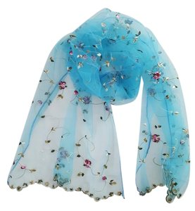 Other Embroidered lace scarf