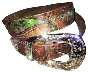 Nocona Nocona Paisley Printed Leather Belt