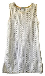Free People short dress White Beach Coverup Lace on Tradesy