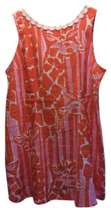 Lilly Pulitzer for Target short dress orange giraffe pattern on Tradesy