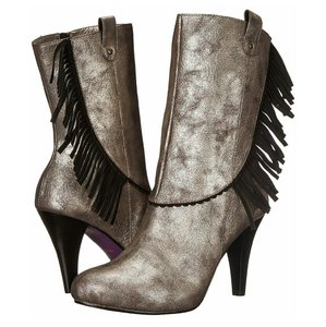 Poetic License Western Fringe Dirty Grey Boots