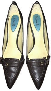 Fitzwell Brown Tassel Professional Chocolate Pumps