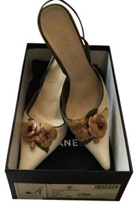 Chanel Camellia Beige Sandals