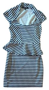 Papaya Pencil Striped Ruffle Dress