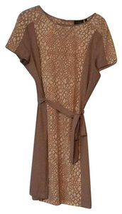 Apt. 9 short dress Taupe with white, orange areas on Tradesy