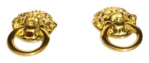 Kenneth Jay Lane Kenneth Jay Lane Lion's Head Clip On Earrings Duchess Of Windsor