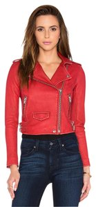 IRO Rag & Bone Isabel Marant Alexander Wang Helmut Lang Tory Burch Red Leather Jacket
